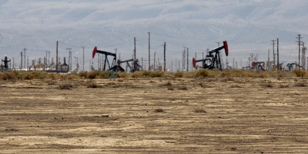 Field with Oilwell