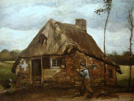 Cottage with Peasant, Van Gogh